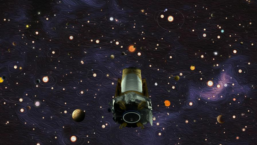 Илюстрация на телескопа Kepler