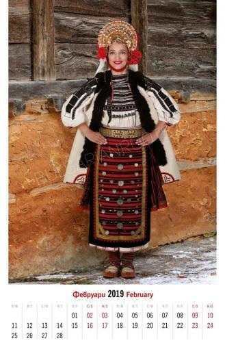Невестинска носия – с. Комарево, Плевенско<br /> (края на ХIХ в.)<br /> Модел: Диляна Гарчева<br />