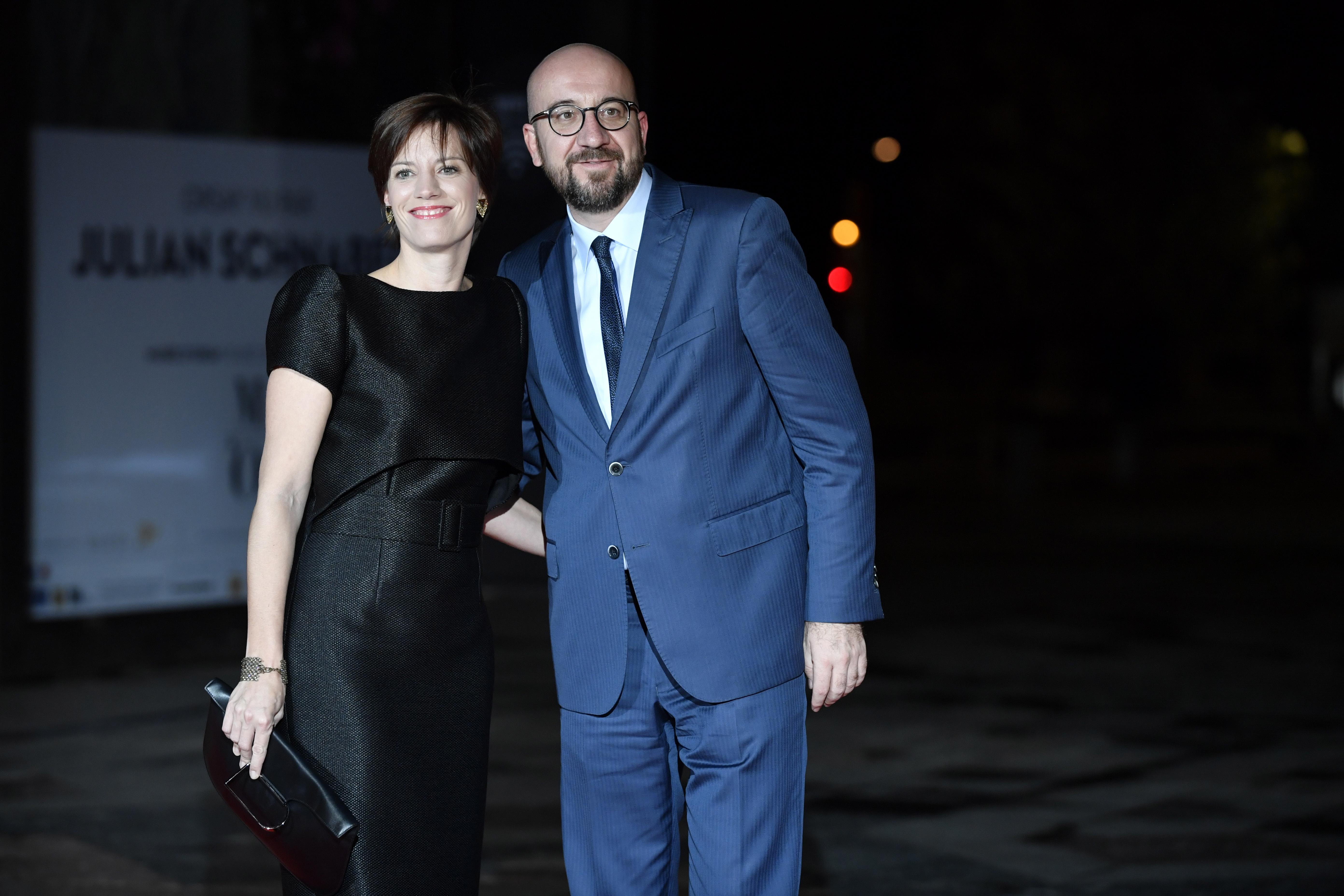 Белгийският премиерШарл Мишел и половинката Амели