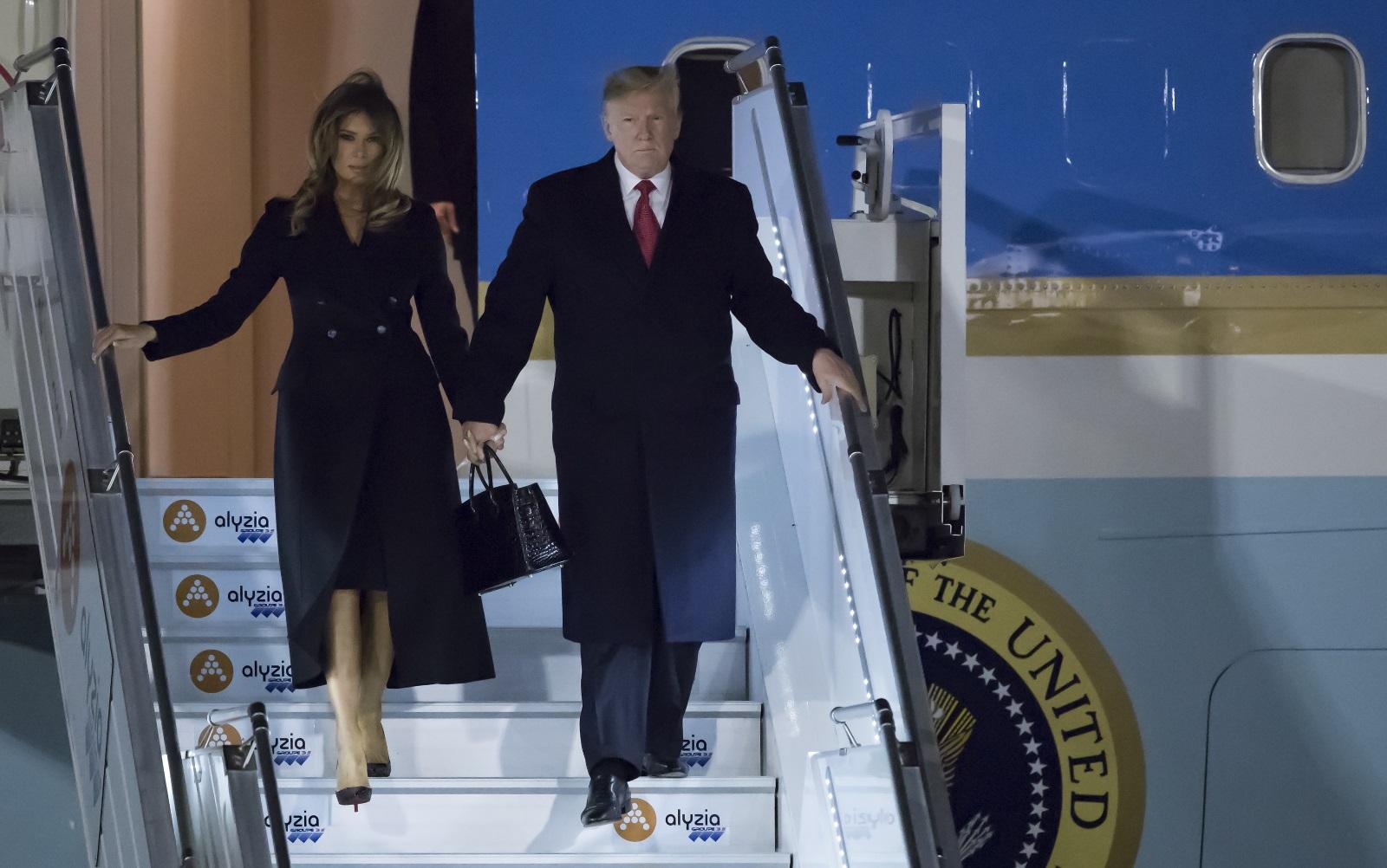 Президентът Доналд Тръмп и първата дама Мелания пристигнаха в Париж