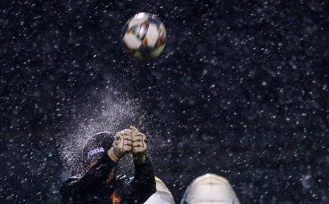 Националите тренират в дъжд и сняг
