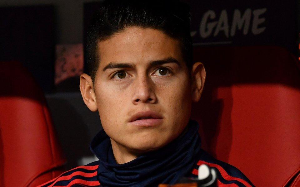 Атакуващият полузащитник Хамес Родригес вече не е футболист на Байерн