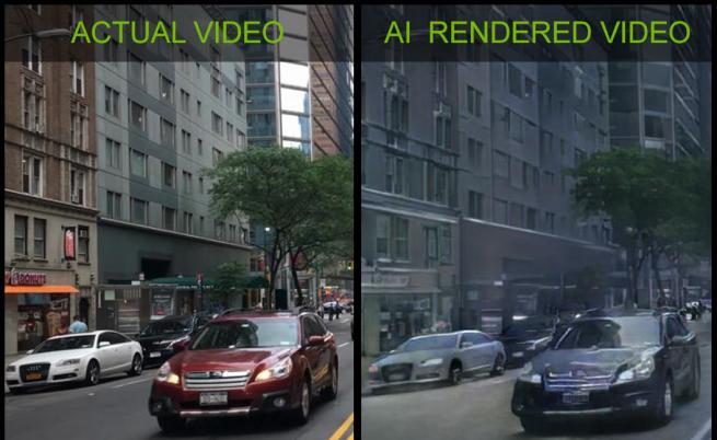 Nvidia създаде виртуален свят от реално видео