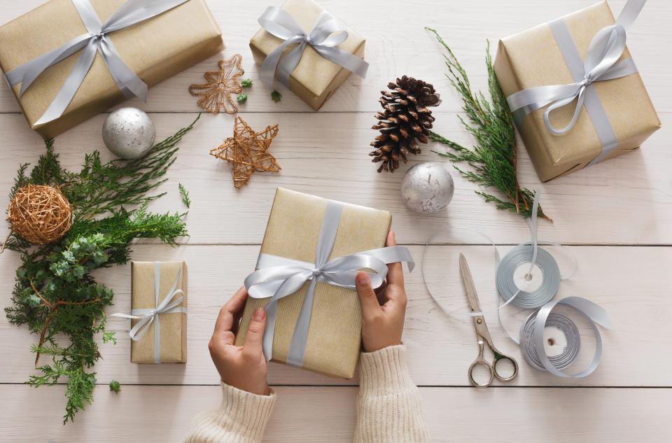 опаковане подаръци