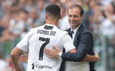 Роналдо загубил облог с треньора си Алегри
