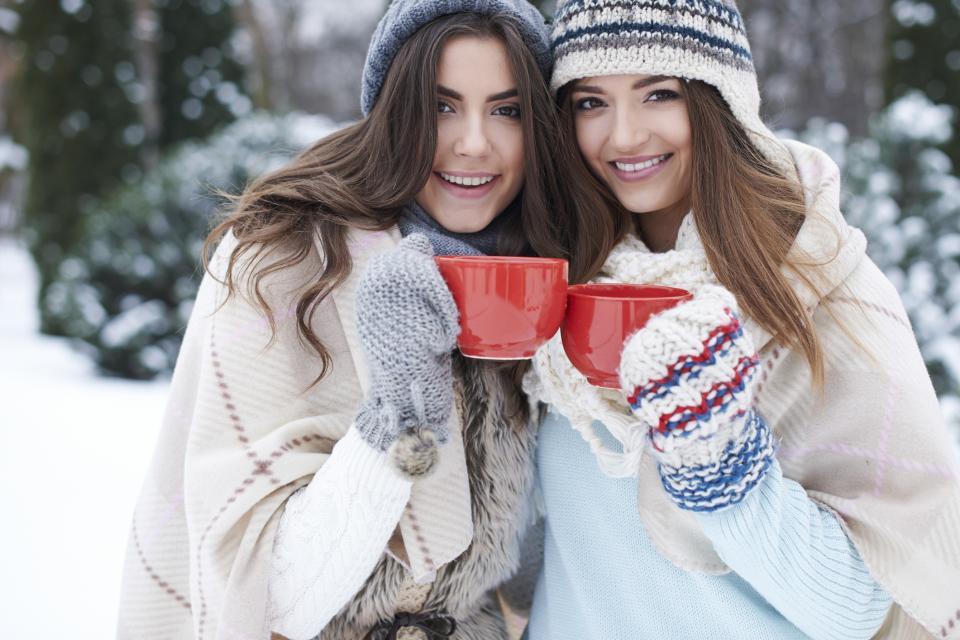 напитка Коледа зима жена