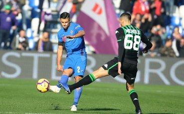 Фиорентина докопа точката от Сасуоло, но е 8 мача без успех