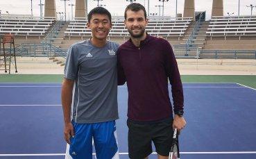 Млад американец се похвали, че тренира с Григор в Лас Вегас