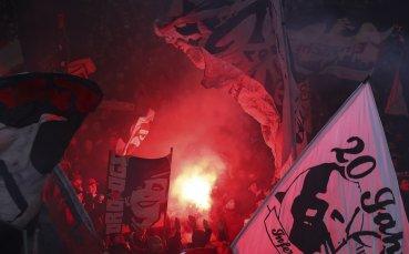 Фенове на Айнтрахт арестувани в Рим преди мача с Лацио