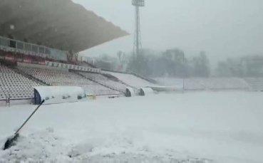 ЦСКА – Ботев Пд под въпрос заради снега