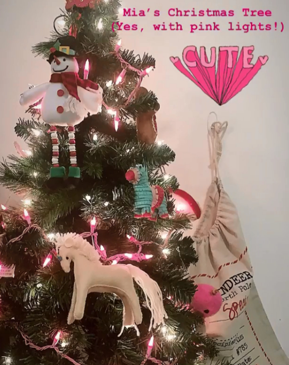 Дъщерята на Христо Стоичков - Мика Стоичкова, която живее в Маями, вече е готова с украсата за празника. Тя сподели розовата елха на дъщеря ѝ Миа, на която задължителен елемент е еднорогът.