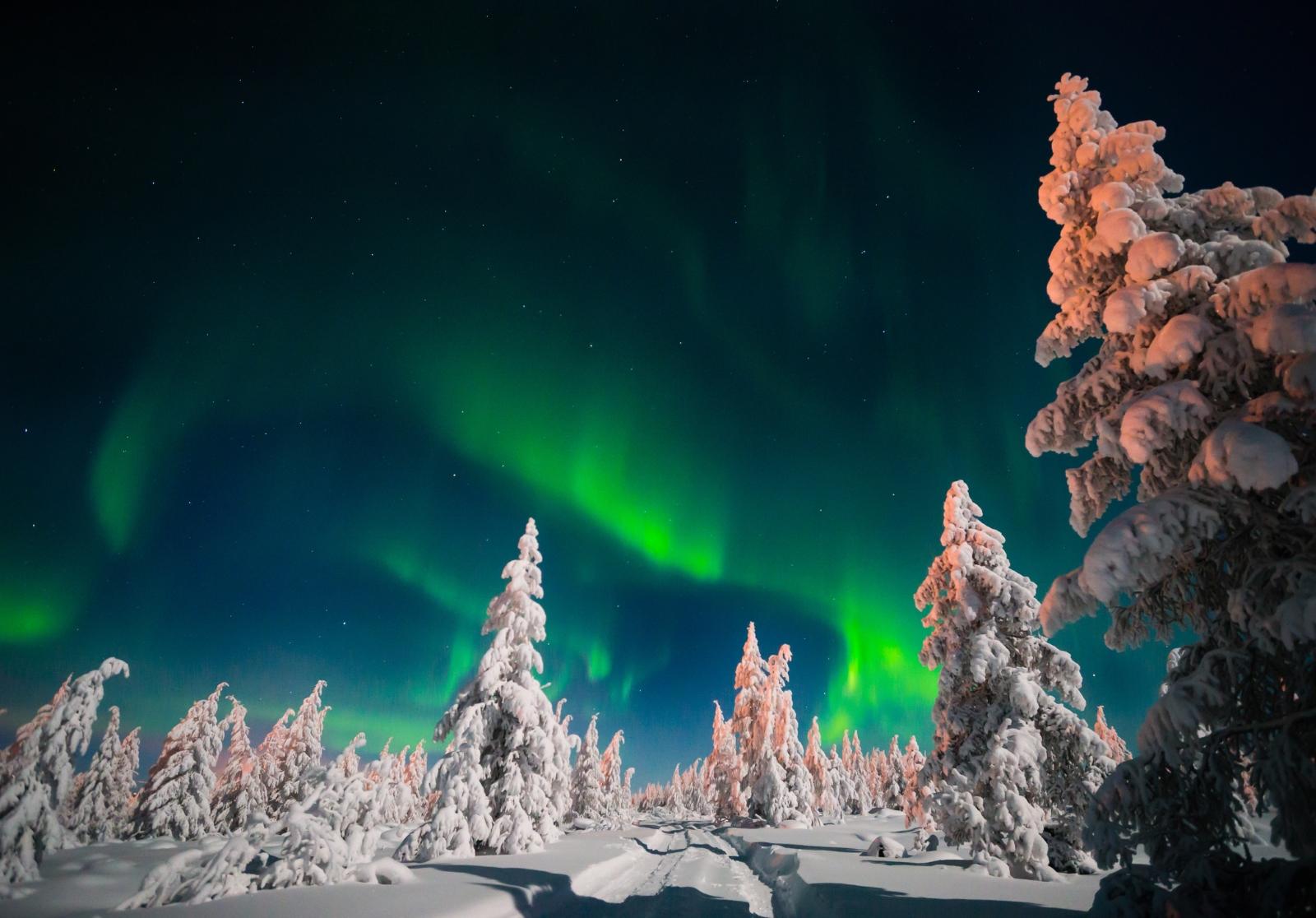 """Лапландия се намира толкова на север, че рам може да си види явлението """"""""северно сияние"""". А и нека не забравяме - там е родината на дядо Коледа."""