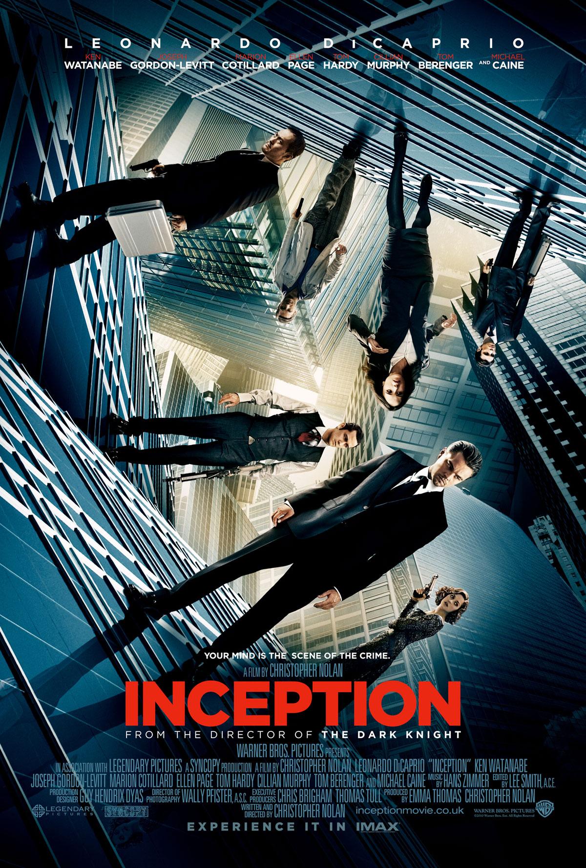 """13. Inception / """"Генезис"""" (2010) – Режисьор: Кристофър Нолан; Участват: Леонардо ДиКаприо, Джоузеф Гордън-Левит, Майкъл Кейн"""