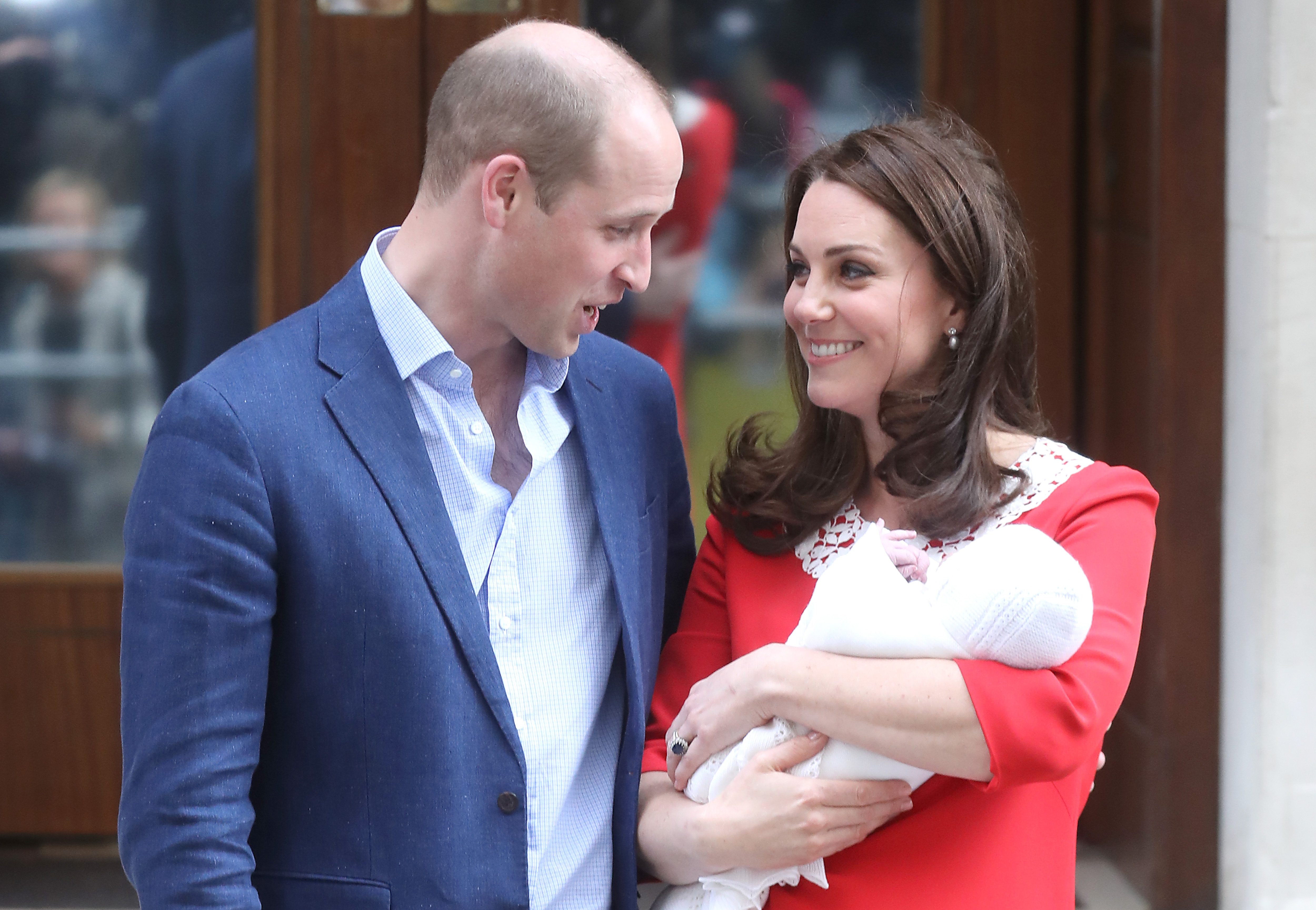 Раждането на принц Луи в началото на 2018 г.