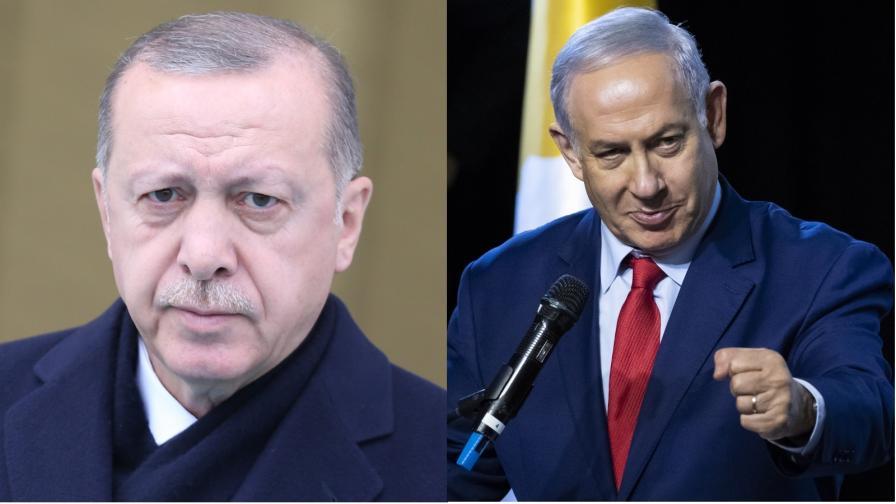 <p>Тежките думи, които си размениха Ердоган и Нетаняху</p>