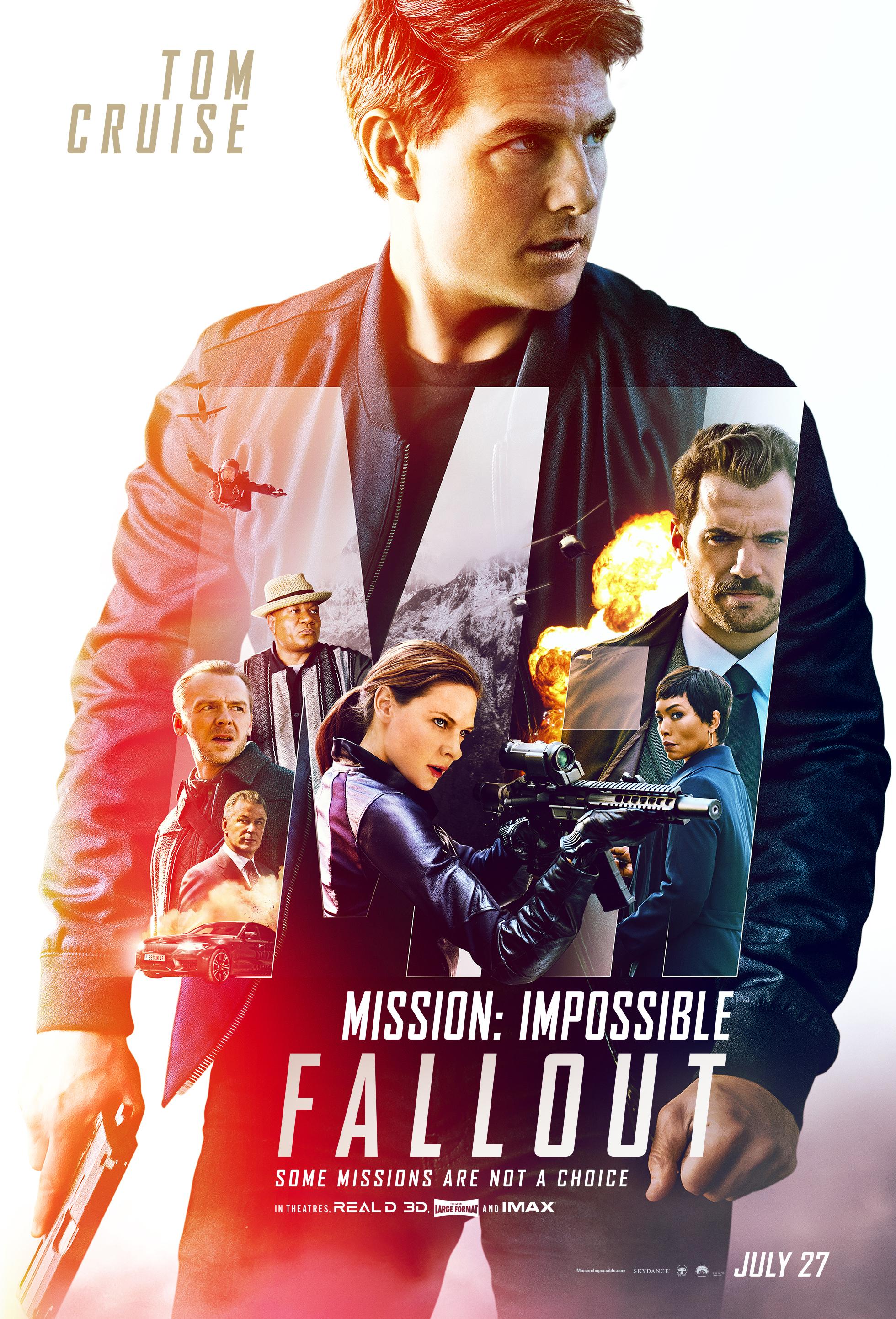 """1. Mission: Impossible - Fallout / """"Мисията невъзможна: Разпад"""" – Режисьор: Кристофър МакКуари; Участват: Том Круз, Хенри Кавил, Ребека Фъргюсън"""