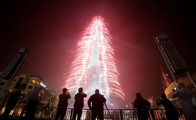 Невероятно светлинно шоу за Нова година в Дубай