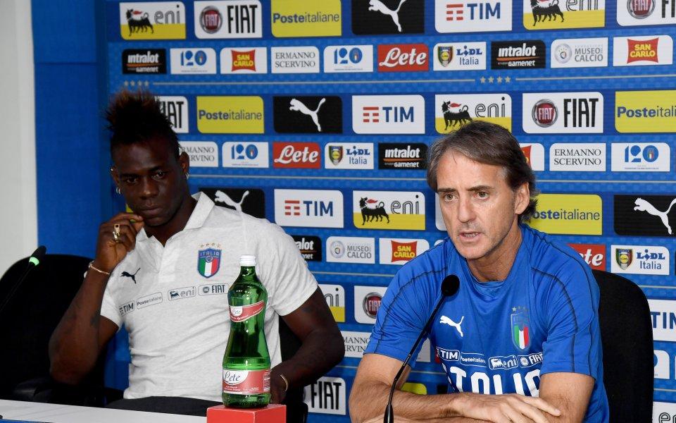 Националният селекционер на Италия Роберто Манчини коментира случващото се с