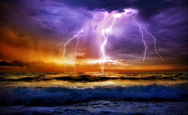 Как рибите оцеляват при гръмотевична буря