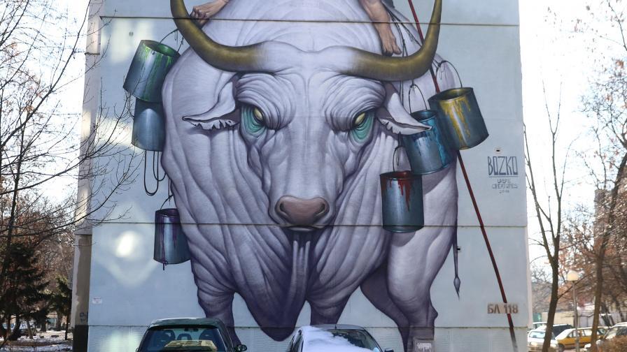 <p>Софийският квартал с <strong>огромните графити</strong></p>