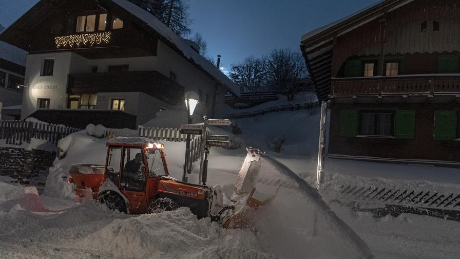 австрия студ сняг