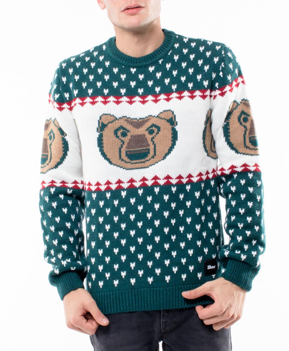 Зимен пуловер със сърдита мечка, за да е ясно на всички, че днес не ви е ден и който иска да ви заговаря, го прави на своя отговорност.