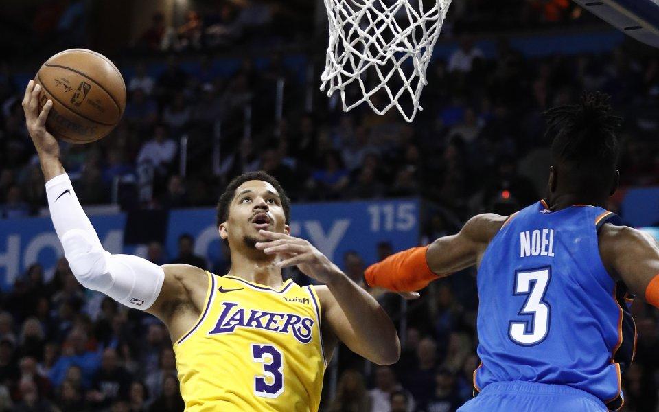 Лейкърс надви Оклахома в дербито от NBA
