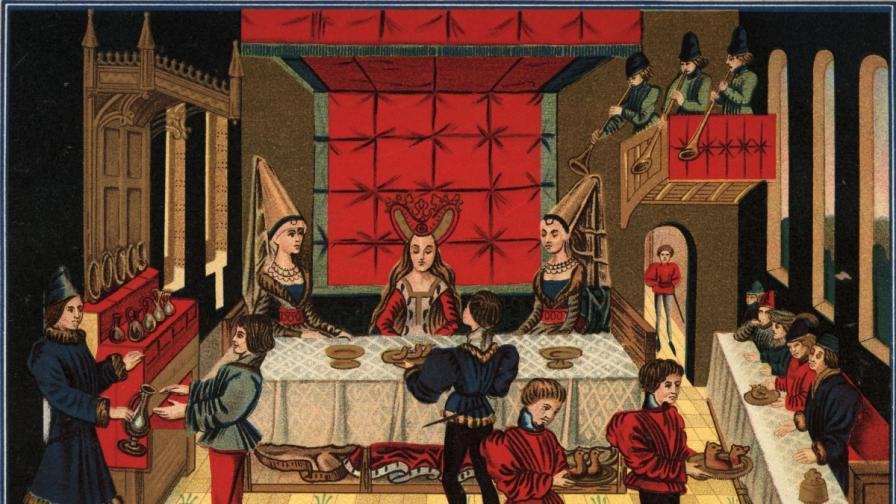 Какво е имало на средновековната трапеза