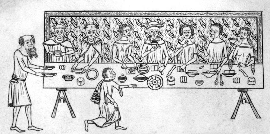 средновековие меню