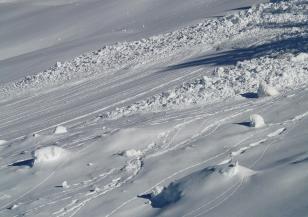 Падна лавина в Осоговската планина