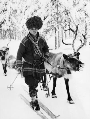 Представител на саамите от Лапландия