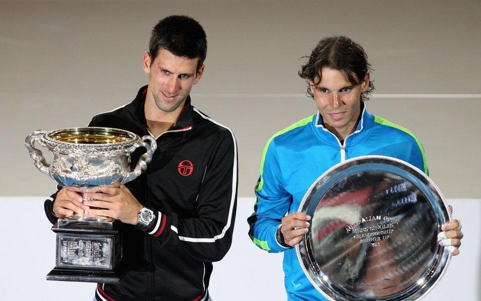 Двама от най-великите тенисисти на съвремието Рафаел Надал и Новак