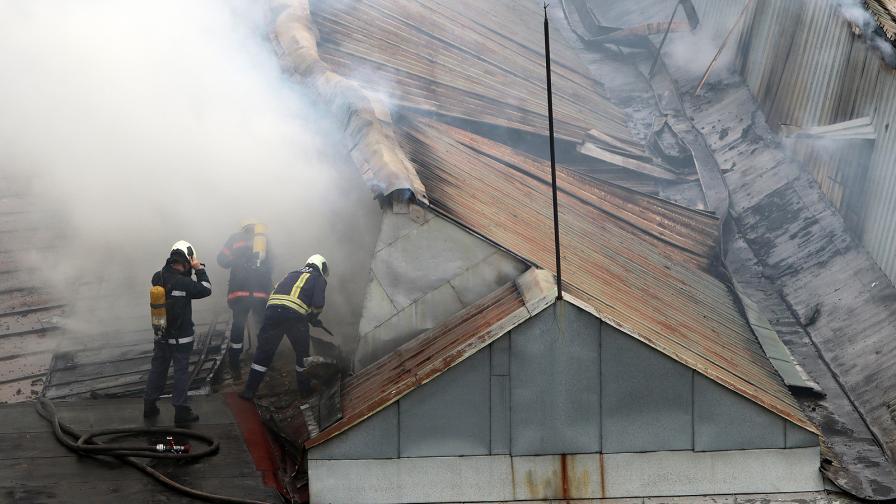 пожар гори дим пожарна