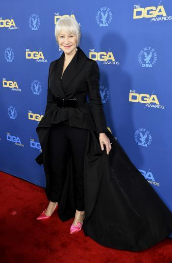 <p>Хелън Мирън по червения килим на Наградите на американската гилдия на режисьорите</p>