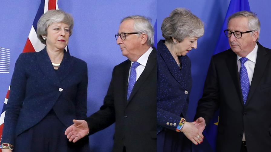 <p>&bdquo;Брекзит&rdquo; - Юнкер даде спасителна сламка на Мей</p>
