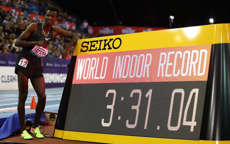 Етиопец строши световния рекорд на 1500 метра в зала
