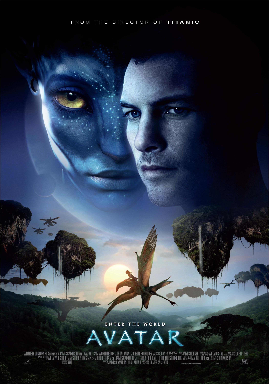 """Avatar / """"Аватар"""" (2009) – Режисьор: Джеймс Камерън; Участват: Сам Уъртингтън, Зоуи Салдана, Сигърни Уийвър."""