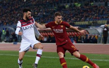 Рома плътно зад Милан след бой вкъщи над Болоня (видео)