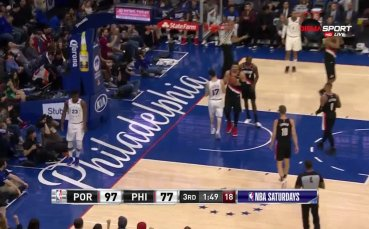 Портланд пречупи Филаделфия в интересен мач от НБА