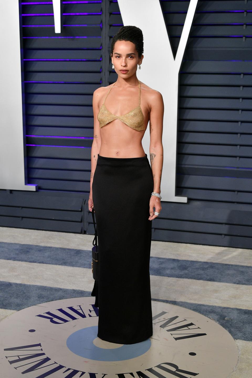"""Визията на Зоуи Кравиц от партито след раздаването на градите """"Оскар"""""""