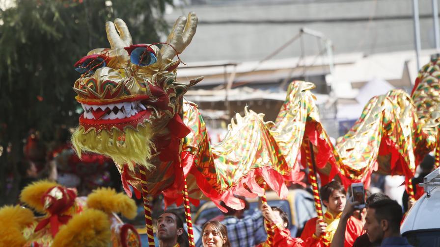 Снимката е архив от отбелязването на Китайската Нова година в Сантяго, Чили, 2018 г.