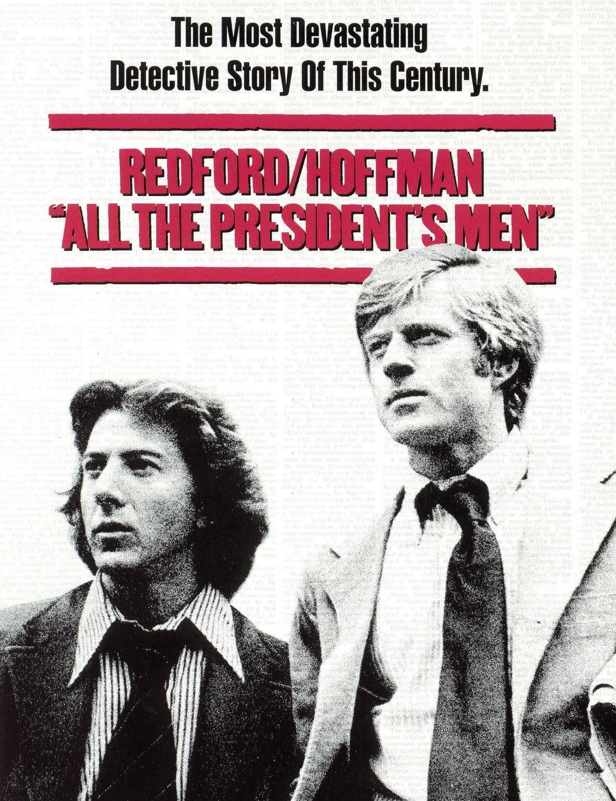 """All The President's Men / """"Цялото президентско войнство"""" (1976) – Режисьор: Алан Джей Пакула; Участват: Робърт Редфорд, Дъстин Хофман, Джейсън Робъртс"""