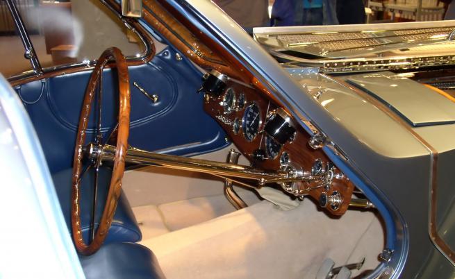 Интериорът на Bugatti Atlantic