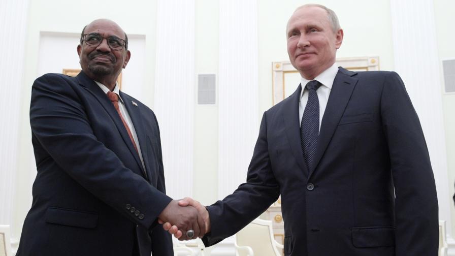Владимир Путин се среща в Кремъл с президента на Судан Омар ал Башир, юли 2018 г.