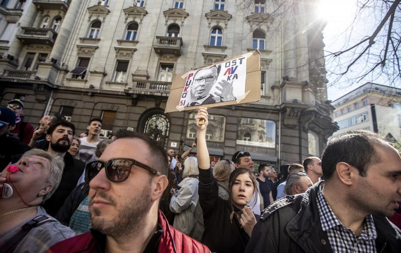 сърбия протести вучич