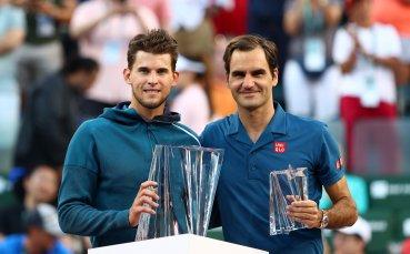 Позитивният Федерер: Просто Тийм игра по-добре във важните моменти