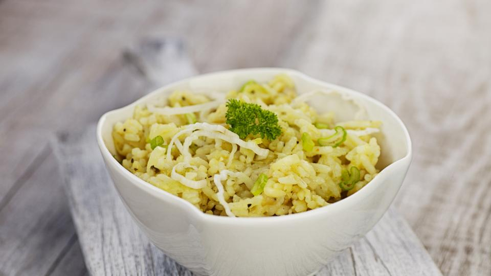Ориз с праз и кедрови ядки