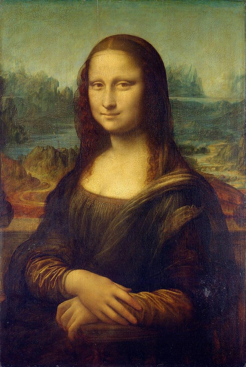 """<div>""""Мона Лиза"""" от Леонардо да Винчи</div>  <div></div>  <div>Едва ли сте забелязали обаче, че инициалите на автора са скрити в дясното око на обекта. Учени откриват и символи в лявото око, но тяхното значение остава неразгадано.Същото важи и за мистериозни линии от четката, които се забелязват на моста зад Мона Лиза. Не е ясно дали те не образуват числото 72 или """"L"""" в комбинация с цифрата 2.</div>"""