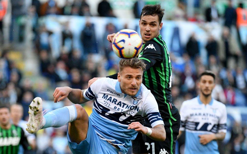 Лацио спаси точката срещу Сасуоло след късна драма