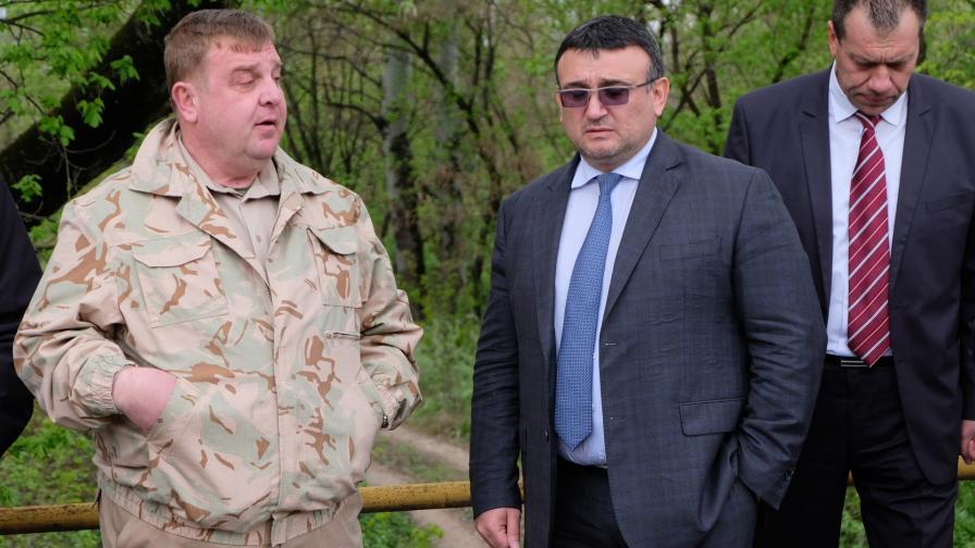 Красимир Каракачанов и Младен Маринов